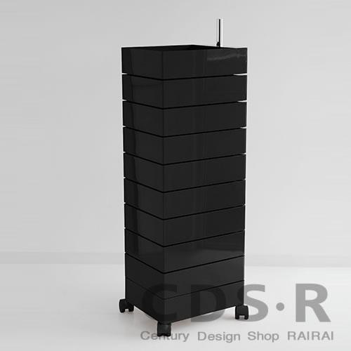 MAGIS (マジス) 360°コンテナー/10段(H127)ブラック AC270-1764C 引き出し収納・キャスター付き_dp10