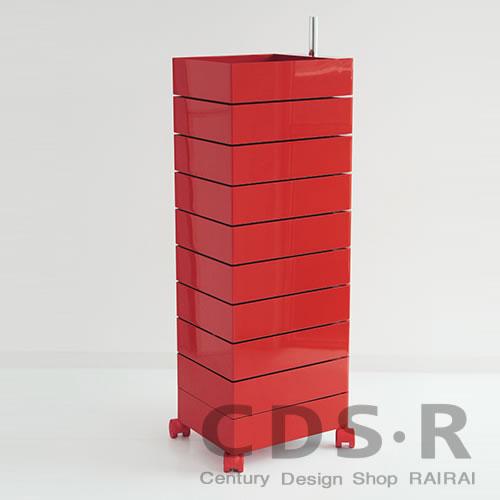 MAGIS (マジス) 360°コンテナー/10段(H127)レッド AC270-1120C 引き出し収納・キャスター付き_dp10