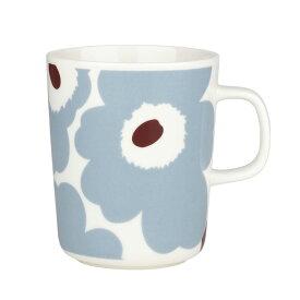 マリメッコ マグカップ 250ml ウニッコ ホワイト×ブルーグレー marimekko UNIKKO