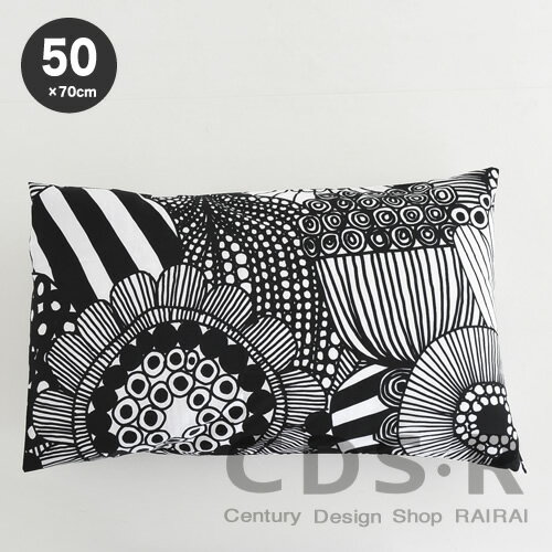 marimekko SIIRTOLAPUUTARHA 枕カバー 50×70cm 99(190) 【68347】ホワイト×ブラック マリメッコ_n_mp10