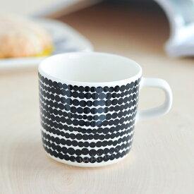 マリメッコ コーヒーカップ シイルトラプータルハ ドット柄 ホワイト×ブラック (99) marimekko Siirtolapuutarha [63292] _dp07