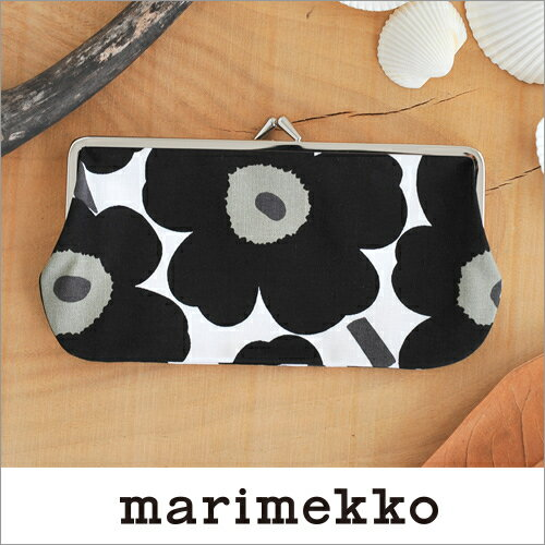 marimekko めがねケース/ホワイト×ブラック 99(030)【31535】マリメッコ コットンパース Mini Unikko _dp10_fp10