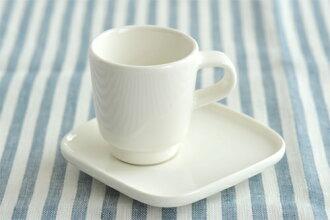 ☆90 (100) NEW ☆ marimekko oiva espresso cup & saucer / white マリメッコオイヴァオイバ