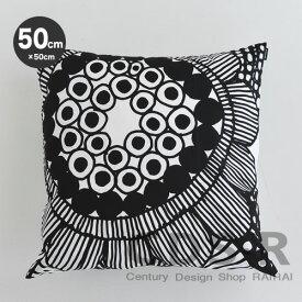 マリメッコ クッションカバー 50cm シイルトラプータルハ ホワイト×ブラック (99) marimekko SIIRTOLAPUUTARHA [67796] _dp10