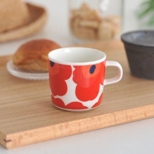 marimekko UNIKKO コーヒーカップ/レッド 75【63429】マリメッコ ウニッコ _dp10_mp10_sp10