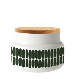 マリメッコ コルク蓋付きコンテナー 700ml アルク ホワイト×グリーン marimekko ALKU JAR