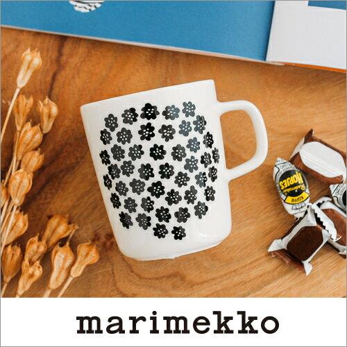 marimekko PUKETTI マグカップ/モノトーン・ホワイトベース 90(190)【68354】マリメッコ プケッティ _n_dp10_mp10