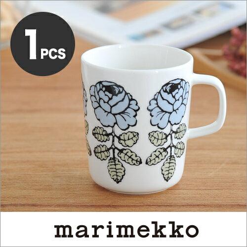 【日本限定】marimekko VIHKIRUUSU マグカップ /ブルーグレー単品 92(980)【68411】マリメッコ ヴィヒキルース_sp10 _mp10
