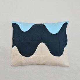 マリメッコ ロッキ 枕カバー 50×60cm ブルー×ベージュ×ホワイト (10) marimekko LOKKI