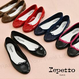 レペット repetto CENDRILLON BABY レインシューズ カラー4色 エナメル フラットパンプス リボン 定番モデル 靴 レディース
