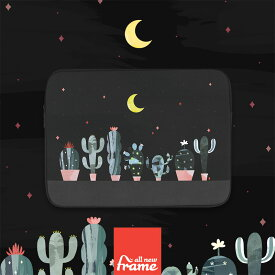 All New Frame Cactus in the night PCケース 13インチ macbook pro 13 ケース macbook 13インチ ケース macbook ケース macbook ポーチ 13インチパソコン ポーチ surface pro surface laptop surface ケース surface ポーチ macbook air 13 ケース
