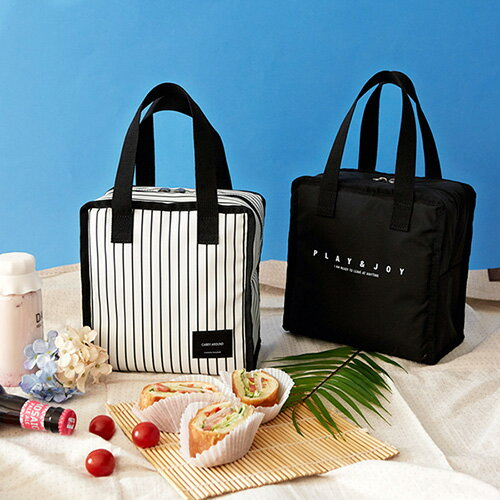 【5%OFFクーポン付】保冷バッグ Funnymade DAY Lunch Cooler bag クーラーバッグ 保冷 ランチバッグ 保冷 ランチ バッグ 可愛い 保冷 弁当箱 保冷 弁当 バッグ シンプル 欧米風 クーラー トートバッグ