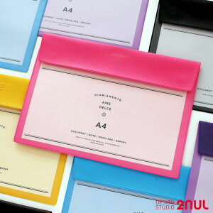 【10%OFFクーポン】2nul Aire File Case A4 ファイル ホルダー 文具 大学生 オシャレ かわいい 実用的 ワンポイント 高校生 学校 会社 社会人