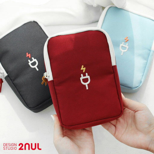 2nul Charger Pouch Large 充電ポーチ ケーブルポーチ マウスポーチ 収納ポーチ かわいい シンプル 面白い 大学生 ビジネス 軽い モバイルバッテリー収納ポーチ 旅行 出張 外出