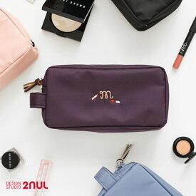 2nul For Your Make up - Make up Pouch メイクポーチ 大容量 化粧ポーチ コスメポーチ たっぷり 収納 旅行用品 トラベル用品 旅先 外出 かわいい シンプル 機能的