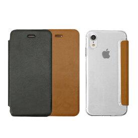 iPhone xs ケース 背面クリア 手帳型 ZENUS Classic Clear Flip 手帳型ケース クリアケース