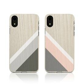 iPhone XR ケース天然木 Man&Wood Suit iphone xr ケース アイフォン カバー 木製