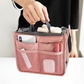 invite.L Compact Dual Bag In Bag デュアルバッグインバッグ 収納バッグ ポーチ レディース メンズ インナーバッグ 収納美人 バッグインバッグ 小さめ