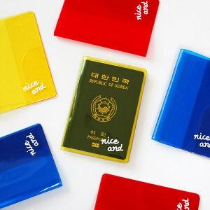 2nul Clear Color Passport Cover パスポートケース クリア パスポート 旅行用品 トラベル用品 旅券 かわいい シンプル 面白い 薄い