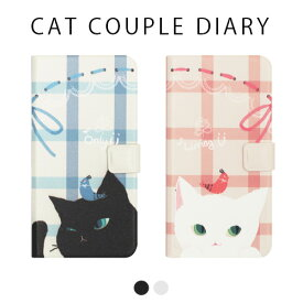 iphone xs ケース Happymori Cat Couple Diary 手帳型 iphoneケース iphone x カバー iphone x ケース iphone xs ケース 手帳 iphonex 手帳型ケース iphonex 手帳