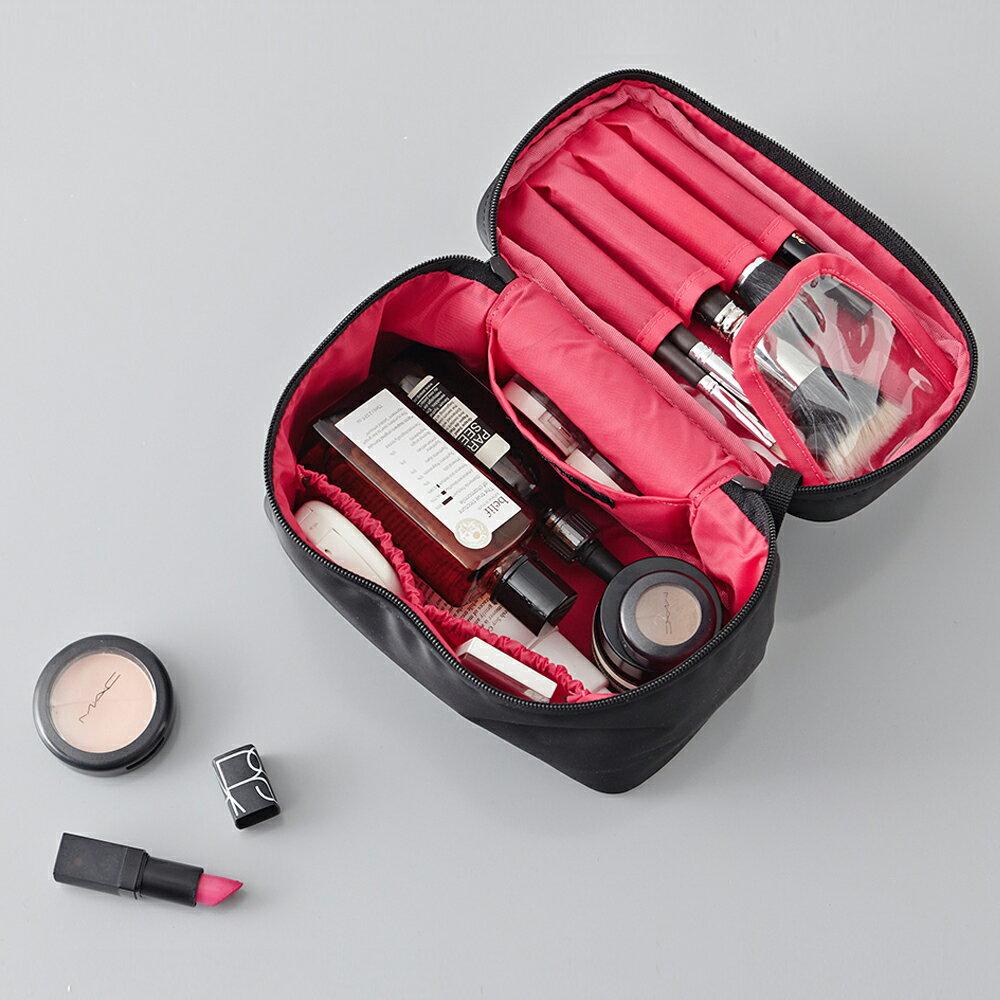 化粧ポーチ 大容量 コスメポーチ メイクポーチ メイクケース ithinkso WHOLE MAKE-UP BOX バニティバッグ ポーチ コスメバッグ ファスナー シンプル 旅行 機能的 小物入れ 化粧道具