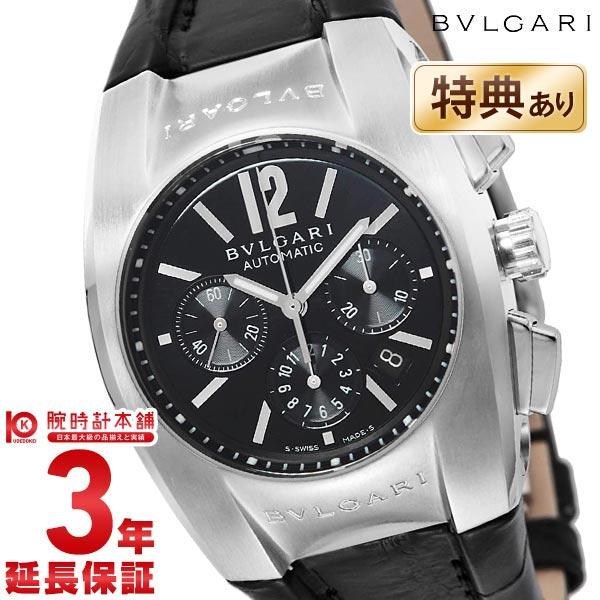 【ポイント最大4倍!19日23:59まで】BVLGARI [海外輸入品] ブルガリ エルゴン クロノグラフ オートマチック ブラック EG35BSLDCH メンズ 腕時計 時計