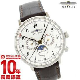 【店内最大ポイント41倍&777円クーポン!27日限定】 ツェッペリン ZEPPELIN ヒンデンブルク シルバー ムーンフェイズ表示 デイデイト 70361 [正規品] メンズ 腕時計 時計【24回金利0%】