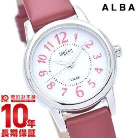 【18日限定!店内最大ポイント38.5倍!】 セイコー アルバ アンジェーヌ ソーラー レディース 腕時計 AHJD404 SEIKO ALBA ingenu レッド 革ベルト 時計