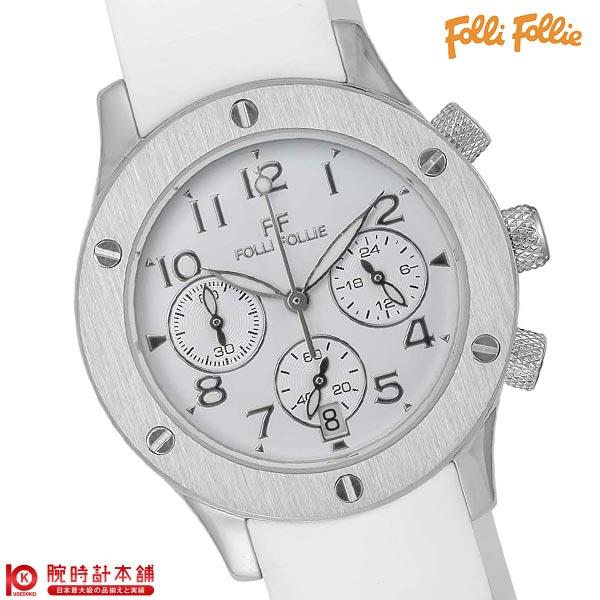 【2500円割引クーポン】FolliFollie [海外輸入品] フォリフォリ クロノグラフ ホワイト ラバー WT6T042SEW レディース 腕時計 時計
