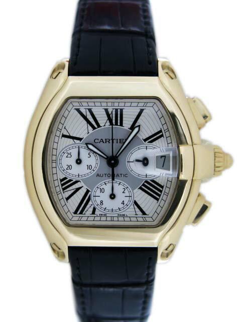 Cartier カルティエ ロードスタークロノグラフ W62021Y3 K18YG【中古】A1ランク美品