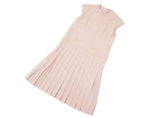 FOXEY NEW YORK COLLECTION 36188 Pintuck Pleated Dress ブラッシュ 38 A1美品【中古】