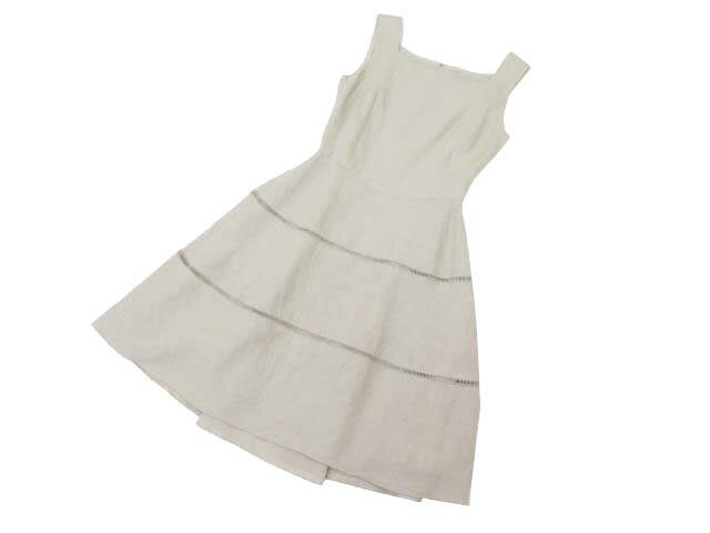4/10(火)21:30から販売開始!!!FOXEY BOUTIQUE Dress (Cote d'Azur) ナチュラル 38 A1【中古】
