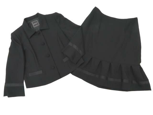 FOXEY BOUTIQUE 34170 ジャケット&スカートスーツ ブラック 42 S2【中古】