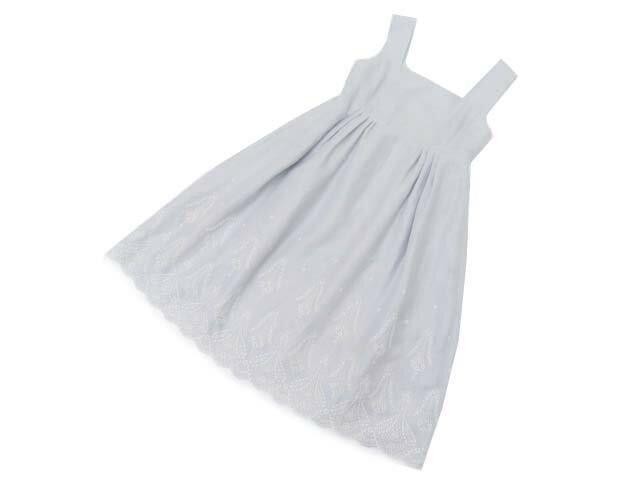 6/20(水)21:30から販売開始!!!FOXEY BOUTIQUE 38776 Dress(Luxembourg) ライトグレー 38 S1【中古】