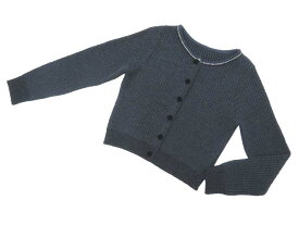 FOXEY BOUTIQUE 36259 Cardigan ブラック×ネイビー 42 S2【中古】