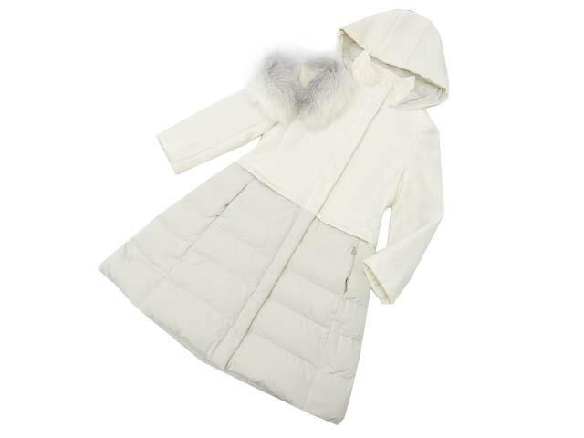 FOXEY BOUTIQUE 34690 Coat(Platinum Snow) ホワイト 38 A1【中古】