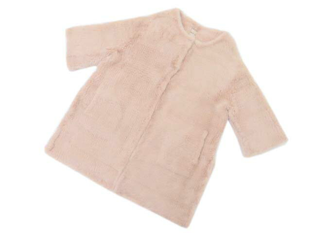 DAISY LIN for FOXEY 30991 Mink Furkuit coat デイジーピンク F S2【中古】
