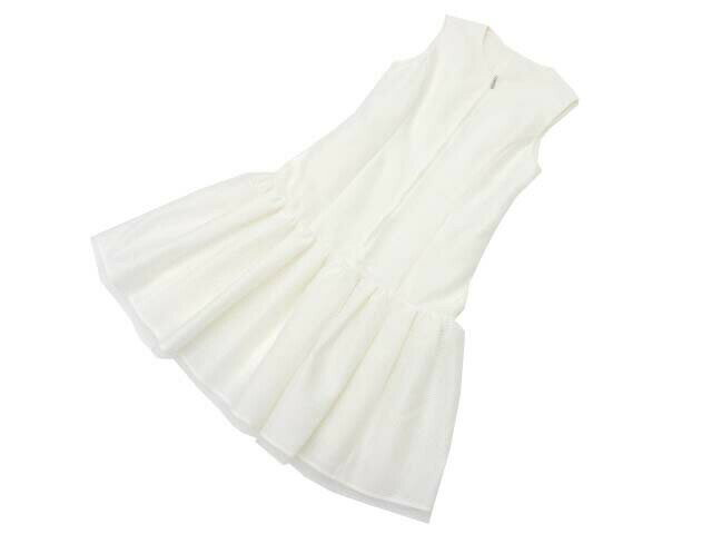 FOXEY BOUTIQUE 37690 Dress(Elegant Flare) ホワイト 38 A1美品【中古】