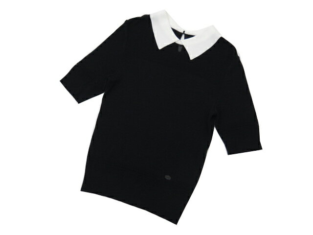 FOXEY BOUTIQUE 35495 Knit Tops(French Sheer) ブラックブラック 40 A1【中古】