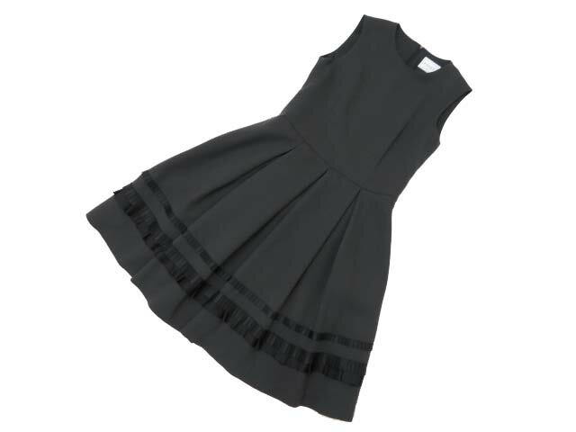 FOXEY BOUTIQUE 36751 ALEXA PLEATED DRESS リッチグレー 40 A1【中古】