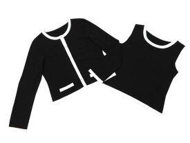 6/25(火)21:30から販売開始!!!FOXEY BOUTIQUE 39938 Twin Knit ブラックブラック×ホワイト 42 S2【中古】