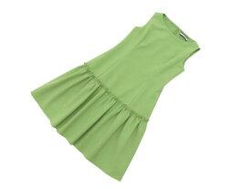 FOXEY NEW YORK 38985 Tuck&Gather Dress グリーンアップル 40 A1美品【中古】