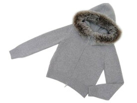 FOXEY BOUTIQUE 38523 Knit Parka(Pinecorn) グレー 40 S2【中古】