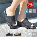 日本製接触冷感LUCIANOVALENTINOITALYコンフォートサンダルレディース歩きやすい厚底サンダルレディースかわいいオフィスサンダル疲れない美脚ウェッジソールサンダル黒ミュールレディースヒール人気109-75453