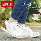 【送料無料】EDWIN軽量スニーカーレディース黒サイドゴアスニーカーローカット履きやすい歩きやすいおしゃれかわいい軽いシンプル疲れにくいスリッポン通勤通学ウォーキングシューズエドウィンブラックアイボリー白ホワイト4539