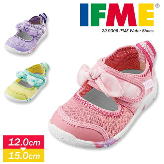 Shoes present gift 12 12.5 13 13.5 14 14.5 15 22-9006 that the child light reflector girl sports shoes security relief playing in the water pool school nursery school kindergarten pink purple yellow magic tape of the IFME child shoes light weight drainin