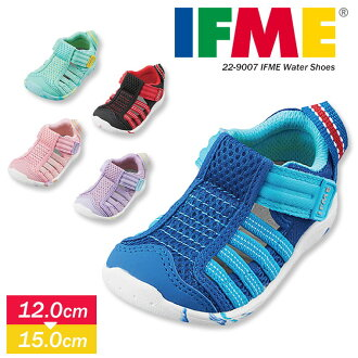 Shoes present gift 12 12.5 13 13.5 14 14.5 15 22-9007 that the child boy light reflector girl boy tortoise sandals sports shoes security relief playing in the water pool school nursery school black pink purple magic tape of the IFME child shoes light wei