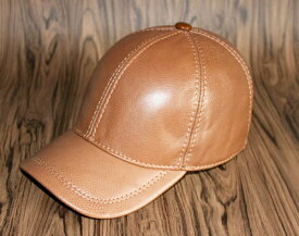 新品セレブレザー本革牛皮野球帽子キャップストリートメンズ黒茶ベージュブラウンブラック