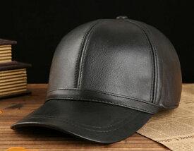 新品セレブレザー CELEB 本革 羊皮 ラムレザー100% シンプルキャップ野球帽子 ユニセックス MENS メンズ 男性 防寒 UV対策 カジュアル アウトドア ブラック 黒 ギフト プレゼント