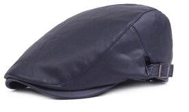 新品セレブレザー本革牛皮野球帽子ハンチングキャップストリートメンズネイビー紺黒茶赤ブラウンレッドブラックミリタリー写真登山メンズレディース